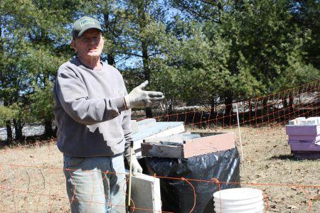 Bob Dewar, 20 years a beekeeper