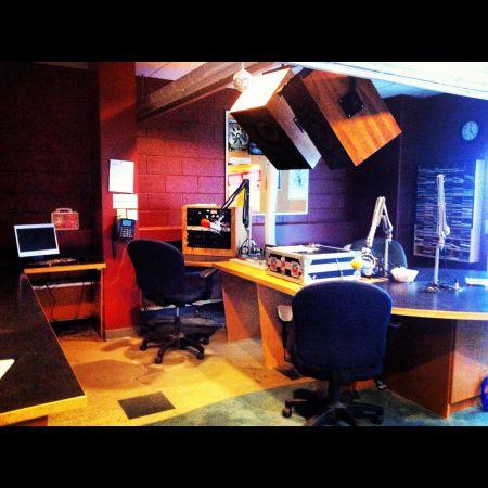 The CKLU studio on the Laurentian University campus in Sudbury, Ontario. (Photo supplied by CKLU.)
