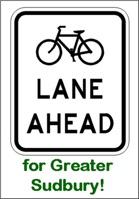 Strong advocacy for cycling infrastructure continues, but advocacy for complete streets and better transit service are also gathering strength.  (Image from Coalition for a Liveable Sudbury)