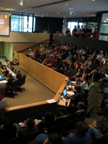 Council Chambers were full to overflowing June 18.