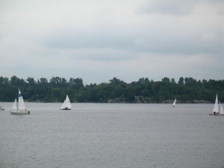 Boating on Ramsey Lake (photo by Naomi Grant)
