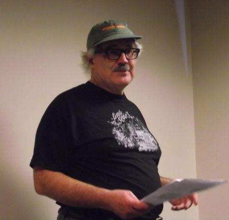 Scholar and activist Gary Kinsman of Laurentian University in Sudbury, Ontario, introducing the film *United in Anger: A History of ACT UP* and talking about the new AIDS Activist History Project that he is working on with Alexis Shotwell of Carleton University in Ottawa.