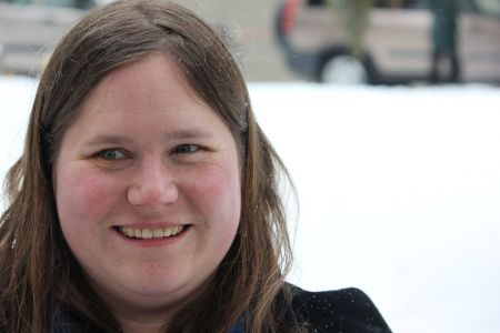 """Sudbury Coalition Against Poverty activist Christy Knockleby: """"We cannot cut back on services and supports on the poor and expect to have the economy booming because of that."""" (Photo by Larson Heinonen)"""