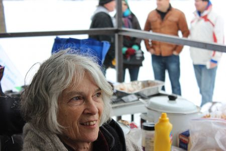 """Sudbury Coalition Against Poverty activist Clarissa Lassaline: """"It is very important for as many groups and organizations to get together and let the government know that we do not want the constant shrinking of resources for people living in poverty"""" (Photo by Larson Heinonen)"""