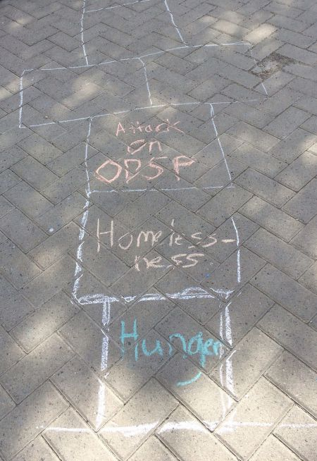 There was also anti-austerity hopscotch...