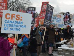 Protesting CFS in Gatineau