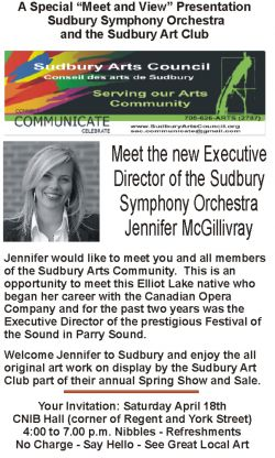 Event Notice -- Meet the new ED of the Sudbury Symphony