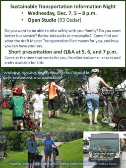 EVENT NOTICE:  You are invited to a Sustainable Transportation Information Night, Dec. 7, 5 – 8 p.m.