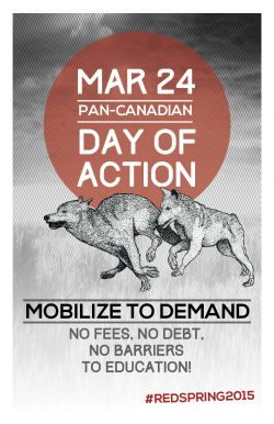 Poster for March 24 pan-Canadian day of action