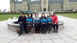 the CCL members present at the Liberal Senate Caucus Wednesday, November 26,2014: Ken Johnson, Penny Henderson, Cathy Orlando, Sharon Howarth, Anita Payne and Tom Cullen.